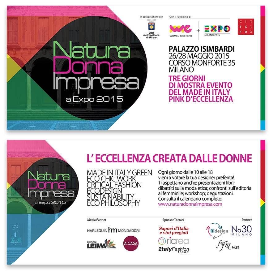 Natura Donna Impresa a Expo 2015 | Palazzo Isimbardi, Milano | 26/28 Maggio 2015
