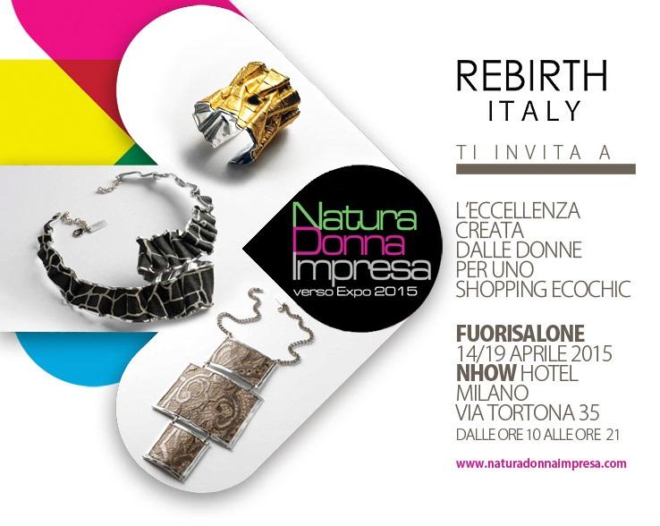 Natura Donna Impresa verso Expo 2015 – Fuorisalone | Nhow Hotel, Milano | 14/19 Aprile 2015