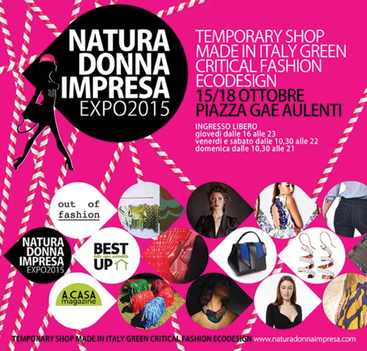 Natura Donna Impresa Expo 2015 | Piazza Gae Aulenti, Milano | 15/18 Ottobre 2015