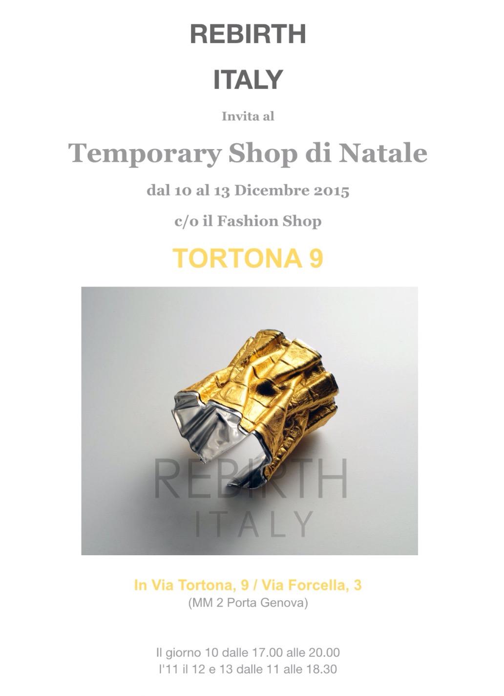 Temporary Shop di Natale | Spazio Tortona 9, Milano | 10/13 Dicembre 2015